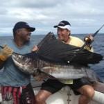 Bill Boyce takes the M-04 Fiji National Record Pacific Sailfish taken on Bite Me