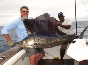 M-06 Record Pacific Sailfish taken aboard Bite Me
